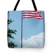 American Flag Flying Proud Tote Bag