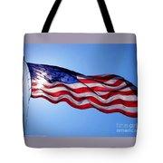 American Flag Fort Sumter Tote Bag