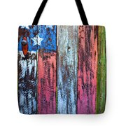 American Flag Gate Tote Bag
