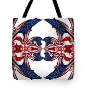 American Flag Polar Coordinate Abstract 1 Tote Bag