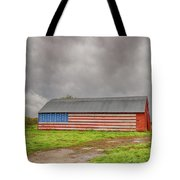 American Flag Proudly Displayed Tote Bag