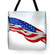 American Flag With Eagle Tote Bag