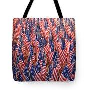 American Flags In Tampa Tote Bag