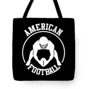 American Football Player With Ball And Helmet Tote Bag