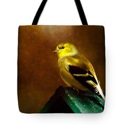 American Gold Finch In Texture Tote Bag