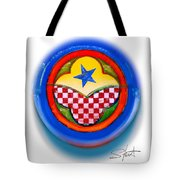American Happiness Button Tote Bag