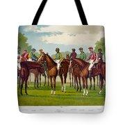 American Jockeys, 1889 Tote Bag