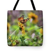 American Lady Butterfly By The Beach Tote Bag