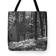American Little House In The Woods Tote Bag