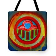 American Love Button Tote Bag