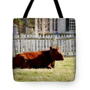 American Milking Devon In Spring Tote Bag