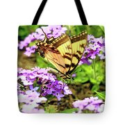 Yellow Eastern Tiger Swallowtail Series Tote Bag