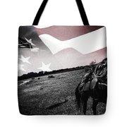 American Patriot -  Cowboy -girl Tote Bag