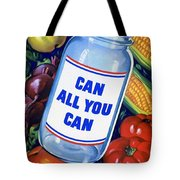 American Propaganda Poster Promoting Canned Food Tote Bag