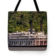 American Queen Riverboat Tote Bag