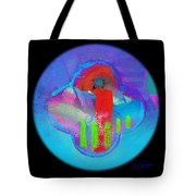 American Red And Blue Tote Bag