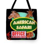 American Safari Motel Tote Bag