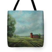 American Scene Red Barn  Tote Bag by Katalin Luczay