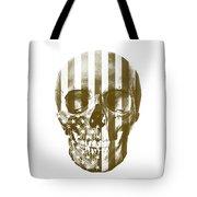 American Skull Beige Tote Bag
