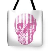 American Skull Pink Tote Bag
