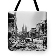 American Soldiers In Cologne, Germany Tote Bag