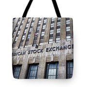 American Stock Exchange Building New York  Tote Bag