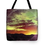 American Sunset As Vintage Album Art Tote Bag