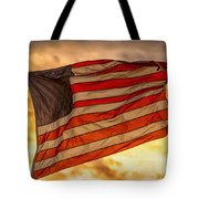 American Sunset On Fire Tote Bag