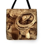 American West Legend Rodeo Western Lasso On Saddle Tote Bag