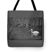 American White Pelican Among Reeds         Minnesota Zoo          Autumn Tote Bag