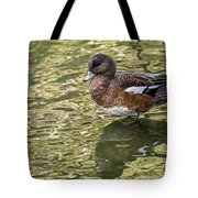 American Wigeon In Autumn Tote Bag