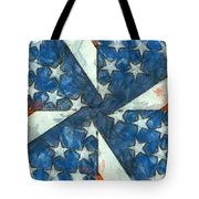 Americana Abstract Tote Bag