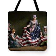 Americana - Flag - Birth Of The American Flag 1915 Tote Bag