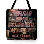 Americana - Food - Menu  Tote Bag