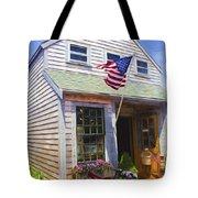 Bike And Usa Flag - Americana Series 04 Tote Bag