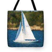 America's Cup 12 Meter Sailboat Newport Ri Tote Bag