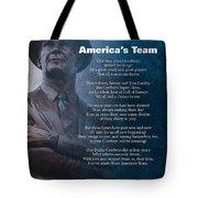 America's Team Poetry Art Tote Bag