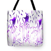 Amethyst Dancing Flowers Tote Bag