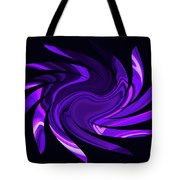 Amethyst Heart Sun Tote Bag
