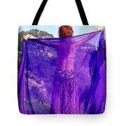 Ameynra Belly Dance. Purple Veil Tote Bag