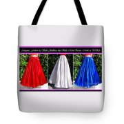 Ameynra Design. Satin Skirts - Red, White, Blue Tote Bag