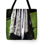 Ameynra Fashion Gothic Skirt With Lace Tote Bag