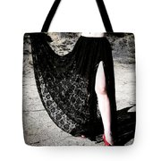 Ameynra Gothic Fashion By Sofia Metal Queen. Lace Skirt 168 Tote Bag