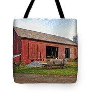 Amish Barn At Sunrise Tote Bag
