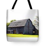 Amish Barn With Gambrel Roof And Hay Bales Indiana Usa Tote Bag