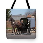 Amish Buggy And High Stepper Tote Bag
