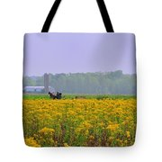 Amish Buggy And Yellow Field Tote Bag