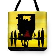 Amish Buggy At Dusk Tote Bag