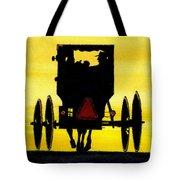 Amish Buggy At Dusk Tote Bag