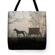 Amish Buggy Foggy Sunday Tote Bag